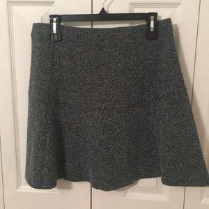 LOFT Teal Tweed-style A-line Skirt